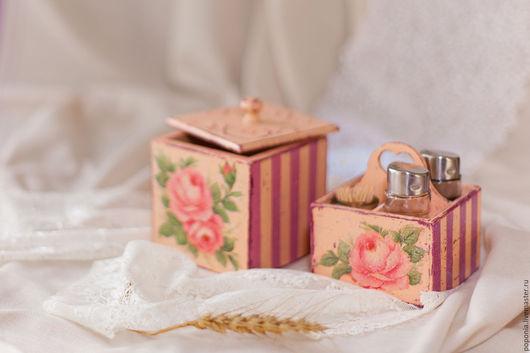 """Кухня ручной работы. Ярмарка Мастеров - ручная работа. Купить Набор для специй """"Шебби"""". Handmade. Розовый, фанера"""