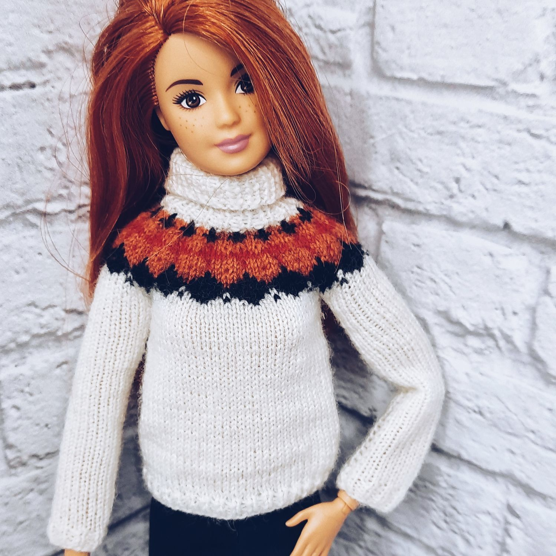 Одежда для Барби. Свитер для куклы, Одежда для кукол, Иркутск,  Фото №1