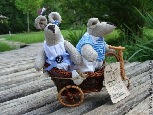 Игрушки животные, ручной работы. Ярмарка Мастеров - ручная работа. Купить морская компания. Handmade. Море, крысята, текстильная кукла