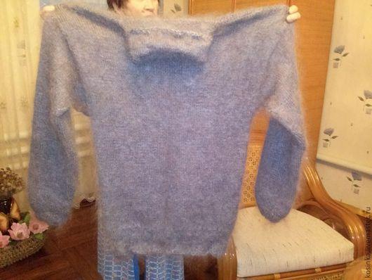 Кофты и свитера ручной работы. Ярмарка Мастеров - ручная работа. Купить Свитер из козьего пуха. Handmade. Серый, свитер теплый