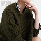 """Одежда ручной работы. Ярмарка Мастеров - ручная работа Свитер зеленый """"Free"""" Зеленый свитер Зеленый свитер Зеленый свитер. Handmade."""