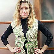 Одежда ручной работы. Ярмарка Мастеров - ручная работа Авторский жилет в технике фриформ. Handmade.
