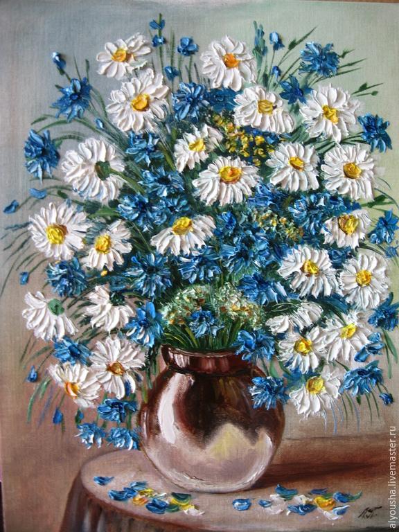 Цветы васильки купить в москве