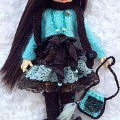 """Куклы и игрушки ручной работы. Ярмарка Мастеров - ручная работа """"Шоколад и бирюза"""" комплект для куклы. Handmade."""