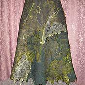 Одежда ручной работы. Ярмарка Мастеров - ручная работа Юбка валяная цвета хаки.. Handmade.