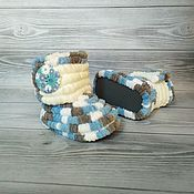 Работы для детей, handmade. Livemaster - original item Children`s shoes: knitted boots for babies, 11.5 cm on the foot. Handmade.