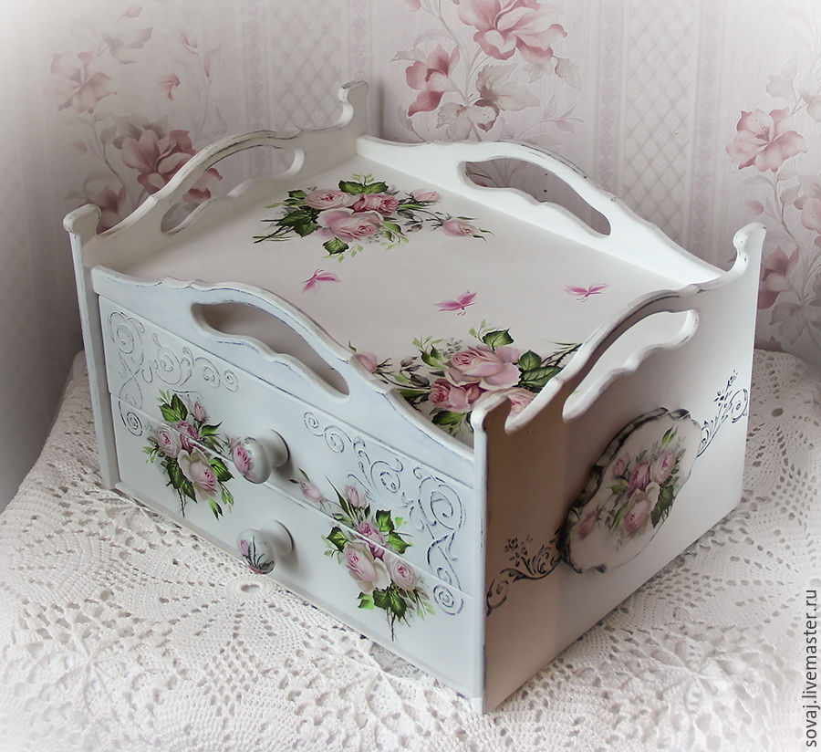 Serving basket tray with two boxes of 'Charm', Trays, ,  Фото №1