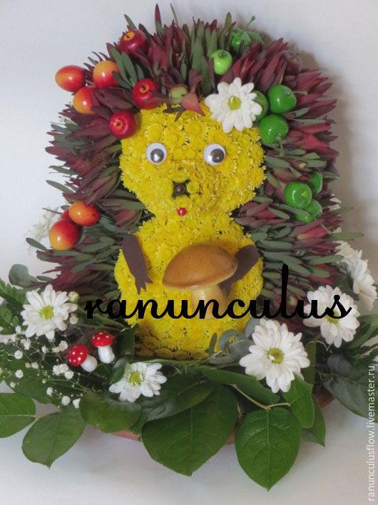 Фото ёжик из цветов