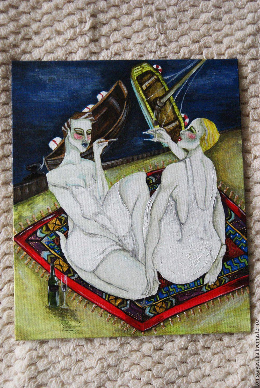 Ню ручной работы. Ярмарка Мастеров - ручная работа. Купить Turkish Sailing. Handmade. Женщина, ковер, девушка, песок, берег