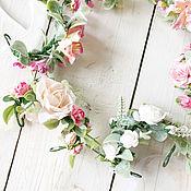 Свадебный салон ручной работы. Ярмарка Мастеров - ручная работа Цветочный браслет, браслет для подружек невесты, лений браслет. Handmade.