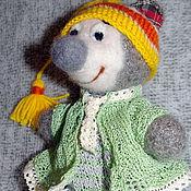 Куклы и игрушки ручной работы. Ярмарка Мастеров - ручная работа Вязаный мишка Санька. Handmade.