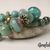 Украшения handmade. Livemaster - original item Bracelet with turquoise. Handmade.