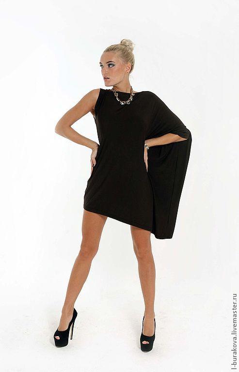 Платья ручной работы. Ярмарка Мастеров - ручная работа. Купить Коктейльное платье. Handmade. Коричневый, Танцовщица, ассиметрия