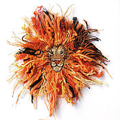 Материалы для творчества handmade. Livemaster - original item Author patch (applique) hand made Fire lion. Handmade.