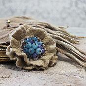 Украшения handmade. Livemaster - original item Felted brooch