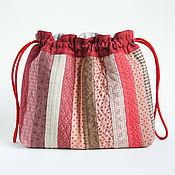 Косметички ручной работы. Ярмарка Мастеров - ручная работа Текстильная сумочка для личных вещей. Quilt. Handmade.