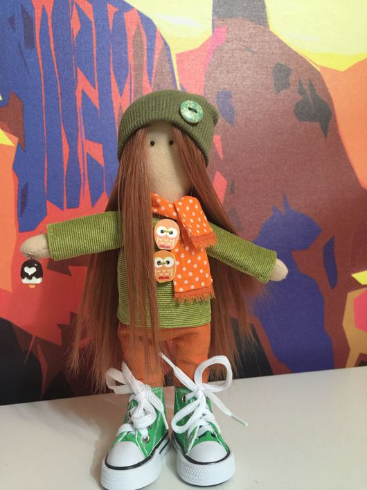 """Коллекционные куклы ручной работы. Ярмарка Мастеров - ручная работа. Купить Интерьерная кукла """"Рыжик"""".. Handmade. Кукла ручной работы"""