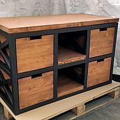 Для дома и интерьера handmade. Livemaster - original item Chest Of Drawers Loft