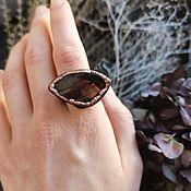 Украшения handmade. Livemaster - original item Copper ring with rauchtopaz (smoky quartz). Handmade.