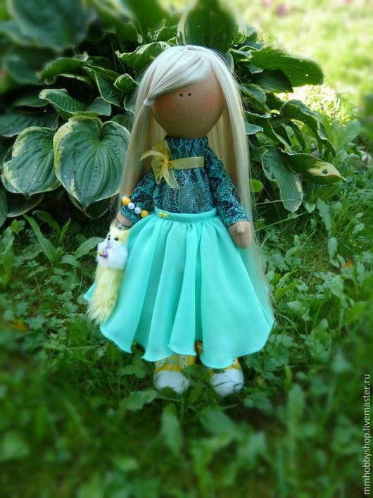 Коллекционные куклы ручной работы. Ярмарка Мастеров - ручная работа. Купить Интерьерная текстильная кукла. Handmade. Белый, интерьерная кукла