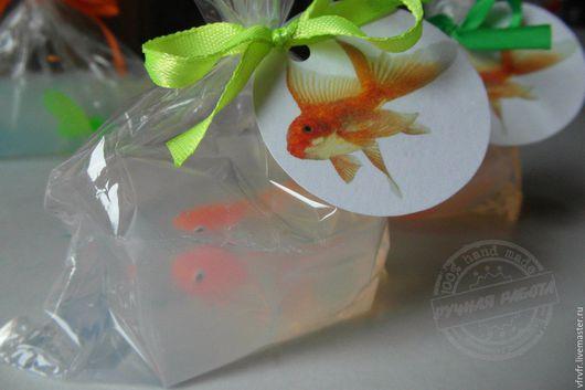 Подарочные наборы косметики ручной работы. Ярмарка Мастеров - ручная работа. Купить рыбка в пакете. Handmade. Ярко-зелёный