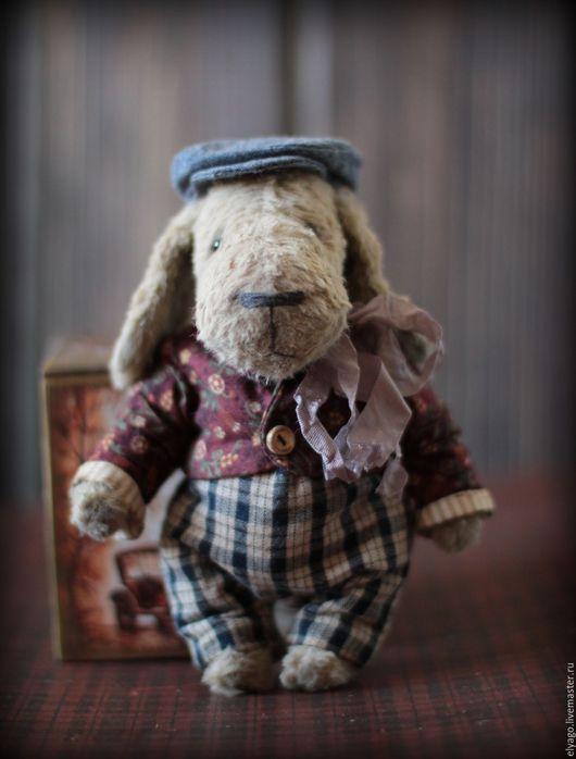 Мишки Тедди ручной работы. Ярмарка Мастеров - ручная работа. Купить Тедди Пес маленький. Handmade. Серый, ретро