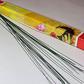 Материалы для творчества ручной работы. Ярмарка Мастеров - ручная работа проволока герберная 10 шт. Handmade.