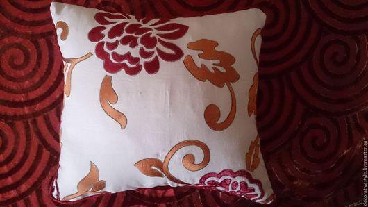 """Текстиль, ковры ручной работы. Ярмарка Мастеров - ручная работа. Купить Декоративная подушка """"Бархатные цветы"""". Handmade. Подушки"""