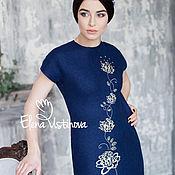 """Одежда handmade. Livemaster - original item Валяное платье """"Пионы"""". Handmade."""