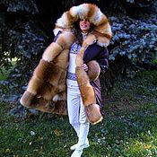 Одежда ручной работы. Ярмарка Мастеров - ручная работа Парка коричневая на меху лисы. Handmade.