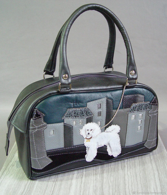 Leather bag ' White Poodle', Classic Bag, Belgorod,  Фото №1