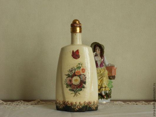 """Комплекты аксессуаров ручной работы. Ярмарка Мастеров - ручная работа. Купить Бутылка """"Лето"""". Handmade. Комбинированный, бутылка в подарок"""