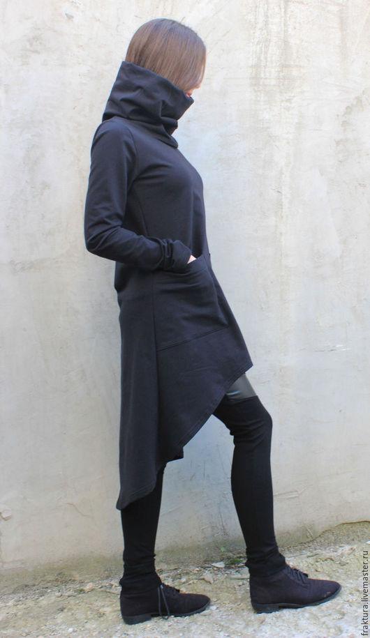 """Спортивная одежда ручной работы. Ярмарка Мастеров - ручная работа. Купить Свитшот """"Comfort"""" B0046. Handmade. Черный, городская мода"""