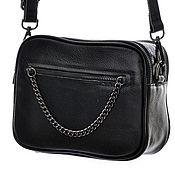 Классическая сумка ручной работы. Ярмарка Мастеров - ручная работа Женская черная кожаная сумка М218. Handmade.