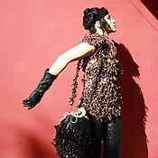 """Одежда ручной работы. Ярмарка Мастеров - ручная работа Джемпер из натуральной  кожи""""  Кожаный  соблазн"""". Handmade."""