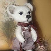 Куклы и игрушки ручной работы. Ярмарка Мастеров - ручная работа Игрушка из шерсти. Белый Мишка. Handmade.