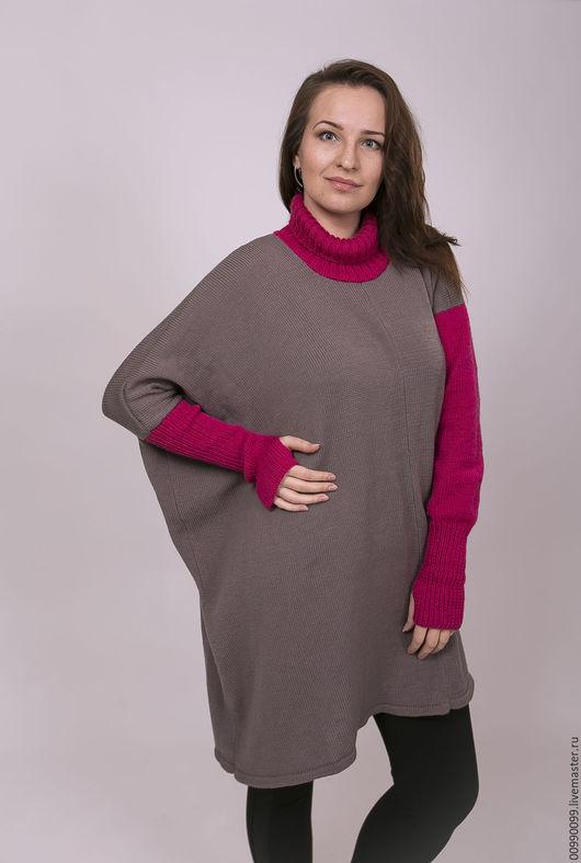 """Кофты и свитера ручной работы. Ярмарка Мастеров - ручная работа. Купить """"Моренго"""", асимметричное платье-туника. Handmade. Серый"""