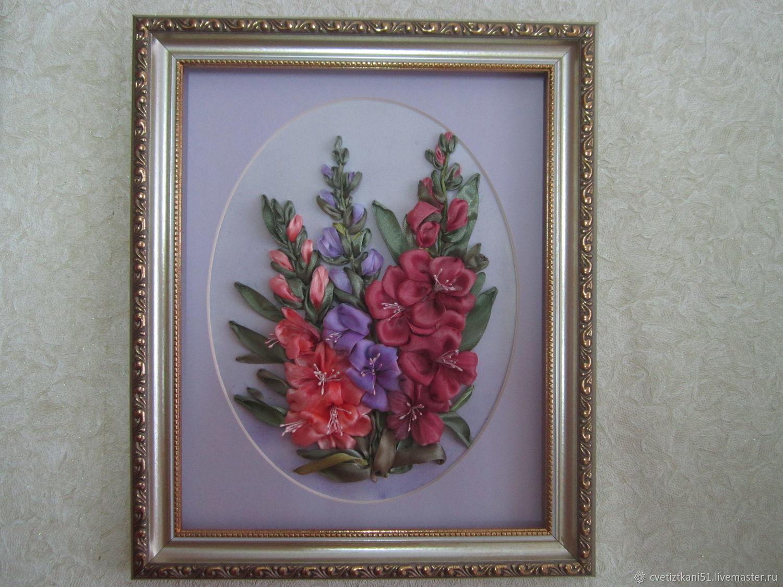 Вышивка лентами гладиолусы фото