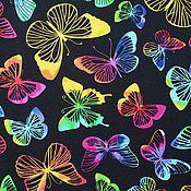 """Материалы для творчества ручной работы. Ярмарка Мастеров - ручная работа Ткань хлопок """"Яркие бабочки"""" 50х55 см. Handmade."""