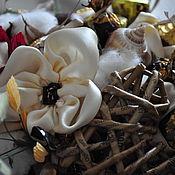 Цветы и флористика ручной работы. Ярмарка Мастеров - ручная работа Цветы из атласа. 21 конфета. РЕЗЕРВ. Handmade.