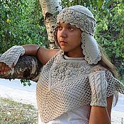 Аксессуары ручной работы. Ярмарка Мастеров - ручная работа Шапка вязаная с вышивкой с ушками  Сударушка. Handmade.