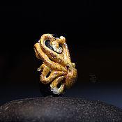 Украшения ручной работы. Ярмарка Мастеров - ручная работа Бусина-подвеска с осьминогом. Handmade.