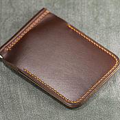 Сумки и аксессуары handmade. Livemaster - original item Wallet money clip (Horween leather ). Handmade.