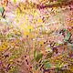 """Шитье ручной работы. Ярмарка Мастеров - ручная работа. Купить Сатин - стретч """"Полевые цветы"""" (розовый) Италия. Handmade. Ткань"""