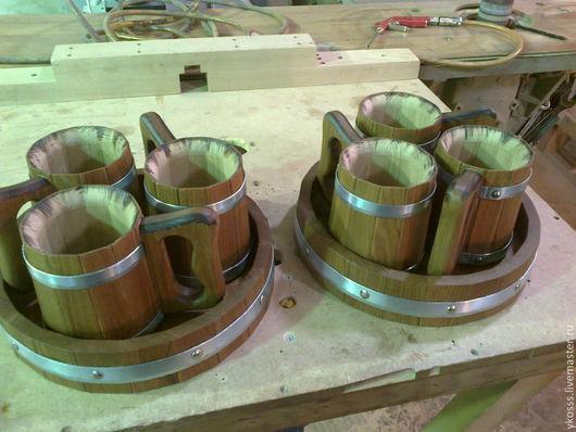 Кружки и чашки ручной работы. Ярмарка Мастеров - ручная работа. Купить кружки дубовые. Handmade. Кружка, дерево