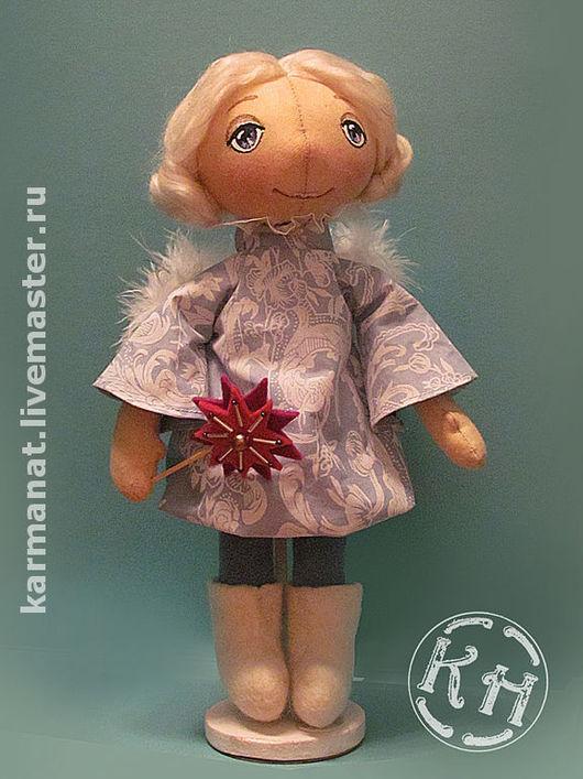 Сказочные персонажи ручной работы. Ярмарка Мастеров - ручная работа. Купить Зимний ангелок. Handmade. Голубой, кукла, кукла текстильная