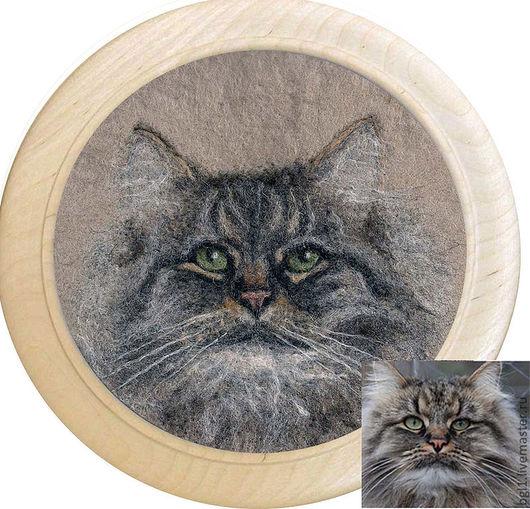 Животные ручной работы. Ярмарка Мастеров - ручная работа. Купить Портрет вашего любимца. Handmade. Животные, серый