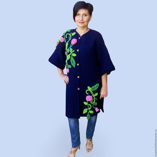 """Верхняя одежда ручной работы. Ярмарка Мастеров - ручная работа. Купить Пальто""""Водопад из роз"""". Handmade. Цветочный, Весеннее пальто"""