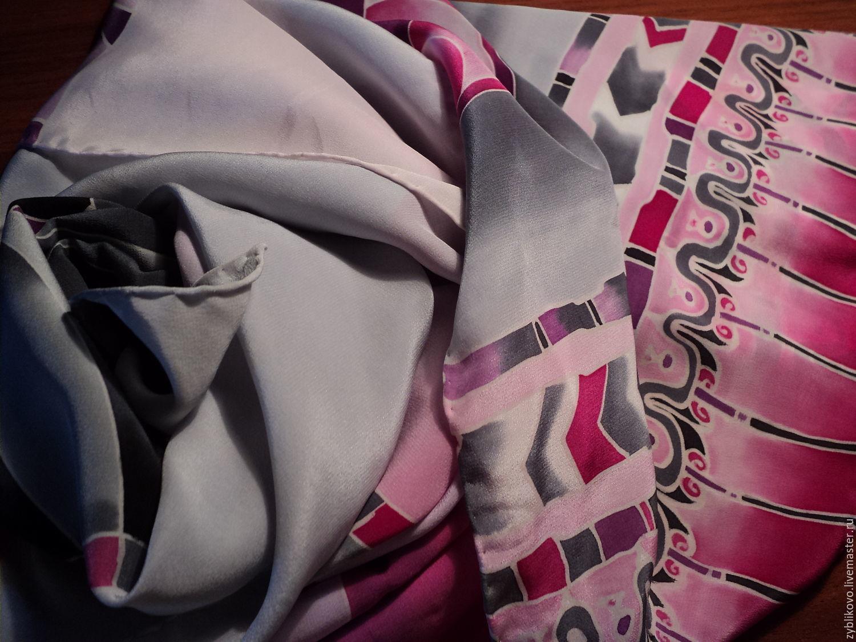 Silk stole `Egypt` author Tatyana Agafonova