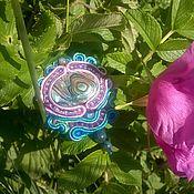 Украшения ручной работы. Ярмарка Мастеров - ручная работа кулон Цветок для Хозяйки Медной горы. Handmade.